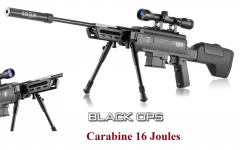 Carabine à plomb BLACK OPS  Type sniper  Cal 4.5 mm  16 Joules