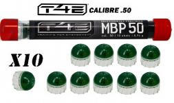 Tube de 10 Billes MNP50 marquage  peinture précision verte  Cal. 50