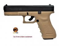 Pistolet Gap Bicolor Sable 9 mm  réplique du Glock 17