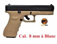 Pistolet Gap Bicolor Sable 8 mm  réplique du Glock 17