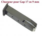Chargeur seul pour Pistolet Gap 17   en Cal  9 mm
