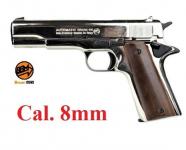 Pistolet Mod. 96  8MM  Réplique  Colt 1911  Nikelé
