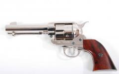 Réplique revolver colt en nickel  poli a la main