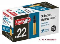 Cartouches 22LR AGUILA  Subsonique   boite de 50