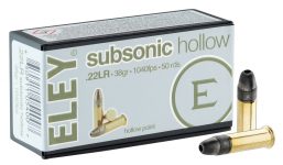 Cartouches 22LR ELEY  Subsonic   boite de 50