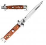 Couteau pliant Automatique Bois sicilien  Lame de 10 cm