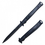 Couteau Pliant automatique Big Boy  Stiletto Noir Eben Lame de 14.5 cm