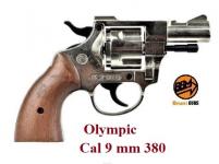 Revolver Olympic Nikelé Cross Bois  Cal. 9mm  380 uniquement