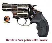 Revolver New police  380  Nikelé  à blanc uniquement
