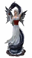 Grande Fée  Maelenn avec Dragon   de 62 cm