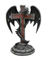 Dragon Ispar avec croix templière   de 45 cm