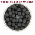 Sachet de 50 Billes caoutchouc Noire   Cal. 50