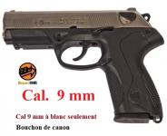 Pistolet  Mod. P4  Nickelé Chrome Cal. 9mm à blanc uniquement