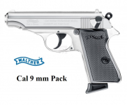 Pistolet à Blanc WALTHER PP Chrome   Cal. 9mm PAK