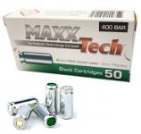 Boite de 50 Cartouches  Maxx Tech  Cal. 9 mm PA  à Blanc