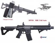 Carabine crosman DPMS SBR  full auto   Cal. 4.5 Bille  Acier