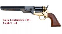 Revolver à poudre noir   Navy confédérate 1851 Cal. 44