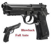 Pistolet Co2  Beretta M92 A1 FULL AUTO   Cal 4.5  BB