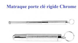Matraque Telescopique porte clé Rigide  Chrome ( PIRANHA )  de 33 cm