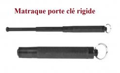 Matraque Telescopique porte clé Rigide  Bronze ( PIRANHA )  de 33 cm