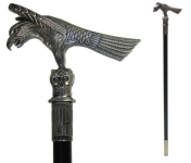 Canne épée aigle et tête de mort