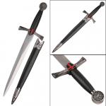 Dague Templière avec fourreau  de 40 cm