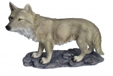 Statue loup marron