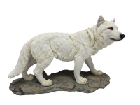 Statue loup blanc
